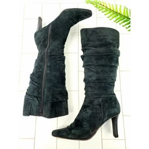 Bass Sloan suede heeled knee boots black 8